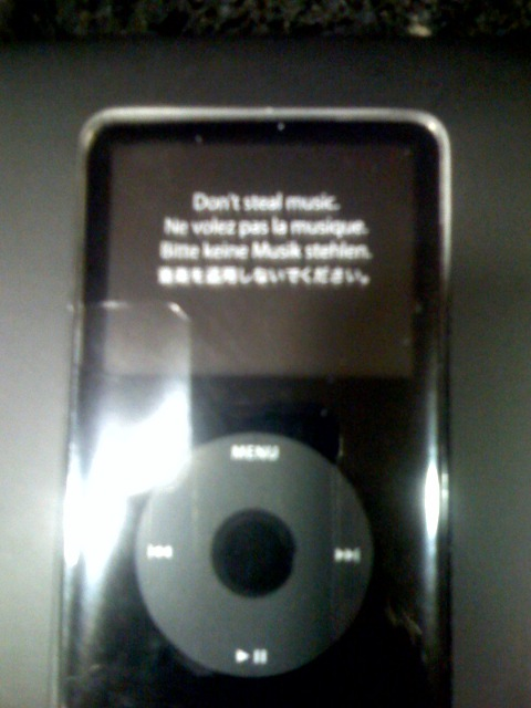 ipod warning
